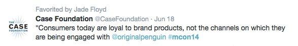 Millennial Engagement Case Foundation Tweet