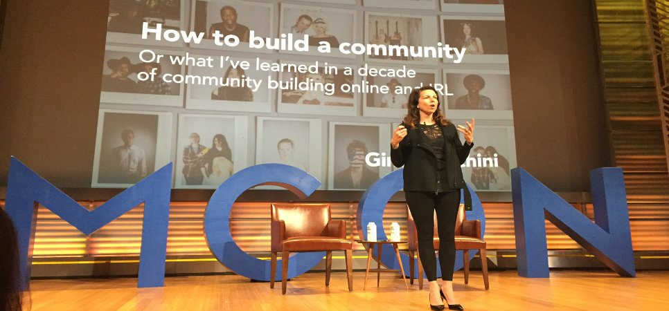 Gina Bianchini, founder of Mightybell at MCON 2016